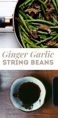 Winter is here, and ginger is the perfect ingredient for adding spice to meals, which is what we did with this ginger glazed garlic string bean recipe. Vegetarian Side Dishes, Vegan Main Dishes, Healthy Side Dishes, Side Dish Recipes, Vegetarian Recipes, Dinner Recipes, String Bean Recipes, Vegetable Sides