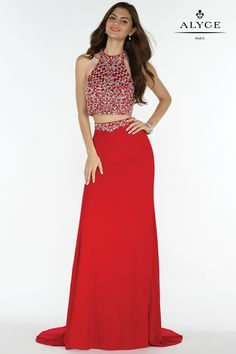 Alyce 1160 Fitted Two Piece Evening Dress