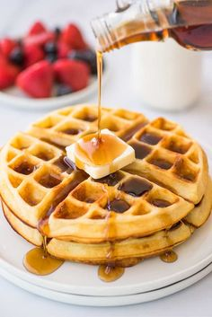 If you're a fan of crispy waffles, these are the best waffles in existence. | #Waffles | #Breakfast |