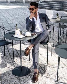 [No title] Casual Hombre, Outfit Hombre Formal, Elegant Man, Trendy Fashion, Suit Fashion, Work Fashion, Fashion Design, Mens Fashion, Classy Casual