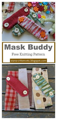 This Face Mask Ear Savers Free Knitting Pattern is a super quick Cotton stash buster project to protect ears from the elastic on surgical masks. Knitting Stiches, Knitting Patterns Free, Knit Patterns, Free Knitting, Free Pattern, Knitting Ideas, Yarn Projects, Crochet Projects, Small Knitting Projects