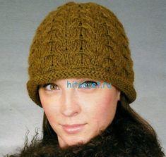 Вязание шапки с узором соты http://hitsovet.ru/vyazanie-shapki-s-uzorom-soty/