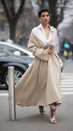 Deena Aljuhani Abdulaziz seen during Milan Fashion Week Fall/Winter 2017/18 on February 23 2017 in Milan Italy #StreetStyle
