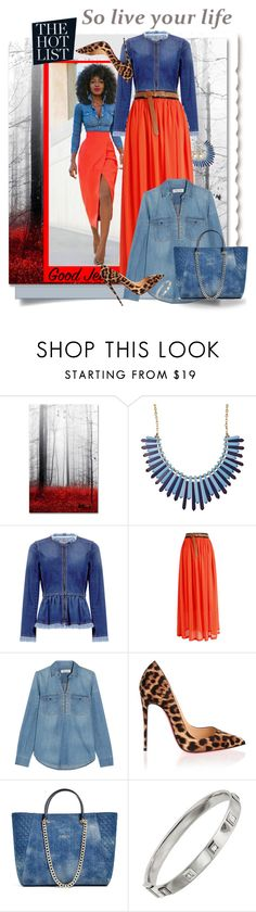 """""""The hot list"""" by marleen1978 ❤ liked on Polyvore featuring Trademark Fine Art, Rebecca Taylor, Madewell, LIST, Christian Louboutin, GUESS, Shay, cute and Fashsion"""