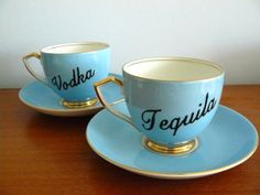 Vodka and tequila teacups