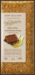 This Pear and Manuka Honey Whittakers Chocolate forms part of their fabulous new (May Artisan Collection. The scrumptious Nelson has chewy little. Honey Chocolate, Artisan Chocolate, New Zealand Food, Manuka Honey, Pear, Caramel, Sweet Tooth, Sea Salt, Drinks