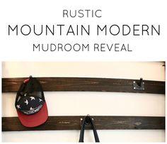Rustic Mountain Modern Mudroom Reveal
