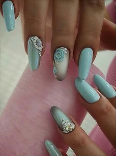 In look for some nail designs and ideas for the nails? Listed here is our list of 24 must-try coffin acrylic nails for stylish women. Fabulous Nails, Gorgeous Nails, Pretty Nails, 3d Nail Designs, Acrylic Nail Designs, Acrylic Nails, Rose Nails, 3d Nails, Nail Art 3d