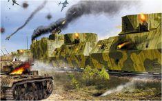 Fortaleza de acero del Ejército Rojo. Tren blindado soviético repeliendo ataque de Junker Ju-87G 'Stuka' cazacarros y de un Panzer III. Valery Petelin http://www.elgrancapitan.org/foro/viewtopic.php?f=12&t=17519&p=891702#p891691