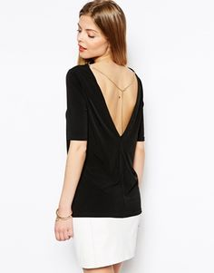 Enlarge ASOS Tunic Top with V Back & Chain