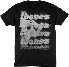 Ibanez Guitar T-shirt Painted Logo Design