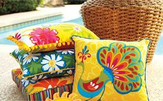 outdoor pillows for outdoor furniture from pier1 imports