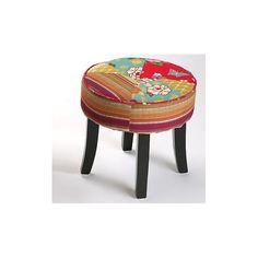 taburete redondo de x cm tapizado en patchwork el puff es un elemento para disfrutar del