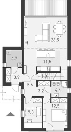 House design With an idea of - construction cost - EXTRADOM Rural House, Two Storey House, Construction Cost, Cabin Plans, Modern House Design, House Floor Plans, Cottage, Layout, How To Plan