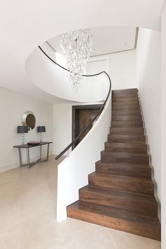 modern glass stainless staircases | 10. Traditional meets contemporary: Cantilevered staircase with Green ...