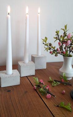 concret, beton, betonowe świeczniki, DIY, telight z betonu