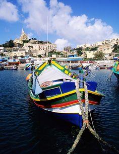 Malta's traditional fishing boats │ #VisitMalta visitmalta.com