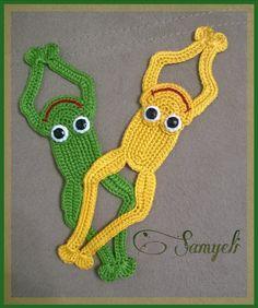 Samyelinin Örgüleri: Kurbağa Kitap Ayracı / Frog Bookmark