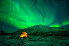 You might imagine that was going to be the greatest moment to camp if you can see the aurora show just light up outside the tent. But the other story is...  It was FREAKING COLD haha  Yukon, Canada