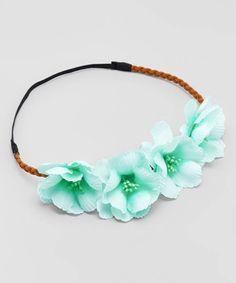 Mint Green Tropical Flower Crowns