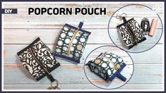 DIY Popcorn pouch / Mini zipper pouch / coin purse / sewing tutorial [Tendersmile Handmade] - YouTube