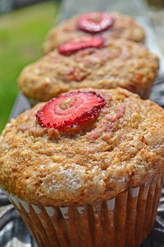 Brown Butter Stawberry Banana Muffins!