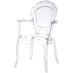 Beautiful 2xhome   Belle Style Ghost Chair Ghost Armchair Dining Room Chair   Clear  Armchair Lounge Chair
