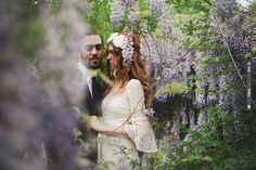 Bohemian Romance In The Woods ~ Bride and Groom Amidst The Wisteria via  Bridal Musings su.pr/1bOdaU photos by Blush Photography   CHECK OUT MORE IDEAS AT WEDDINGPINS.NET   #weddings #weddinginspiration #inspirational