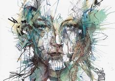 Carne Griffiths is a Liverpool based artist creating some truly elegant and awe inspiring drawings. Along with the usual inks that artists work with, Griffiths also employs the use of tea and alcohols