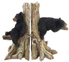 Bear Decorative Bookends Nature Wildlife