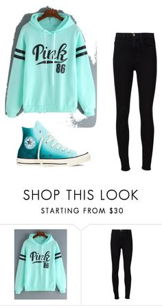 """""""Untitled #8"""" by sarahsuzannewingate ❤ liked on Polyvore featuring beauty, Frame Denim and Converse"""