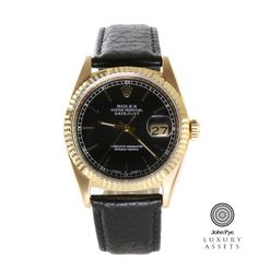 #Rolex Datejust gents 18ct #Gold #Automatic #Watch. #LuxuryWatches OnlineAuction #JohnPyeAuction