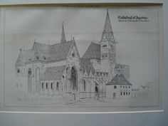 Cathedral of Augsburg , Augsburg, Bavaria, Germany, EUR, 1875, Drawn by J. Tavenor Perry