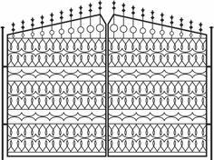 recinzione in ferro stile europeo modello vettoriale