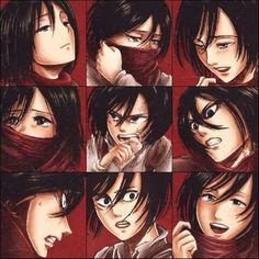 Manga Mikasa colored