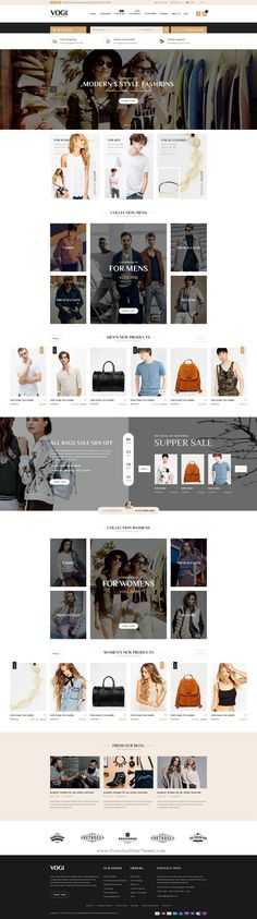 Vogi is simple, clean and clear style eCommerce PSD Template. It includes 06 unique homepages and 18 other pages to support all your requirements.
