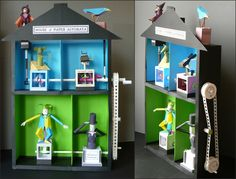 From the designer Rob Ives gives it many beautiful paper models. I united seven models in this house. The house is from two cardboard boxes paste the walls w...