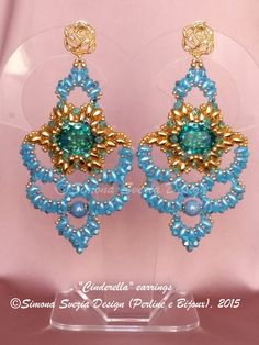 CINDERELLA earrings ©Simona Svezia Design (Perline e Bijoux), 2015 Tutorial available on my Etsy shop: https://www.etsy.com/it/shop/PerlineeBijoux