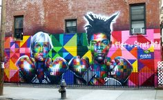 Kobra's Warhol and Basquiat Mural, Williamsburg