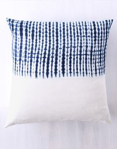 wolves within indigo dyed pillow