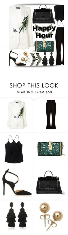 """""""From Office to Happy Hour"""" by maranella ❤ liked on Polyvore featuring Dolce&Gabbana, Altuzarra, J.Crew, Gianvito Rossi, Oscar de la Renta, Bling Jewelry and happyhour"""