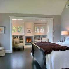 reading area in master bedroom