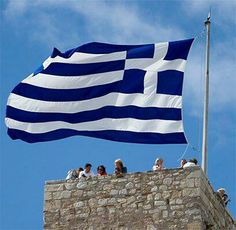 Greek flag Corfu, Crete, Greek Flag, Western Philosophy, Greek Beauty, Famous Places, Ancient Greece, Greece Travel, Great Pictures
