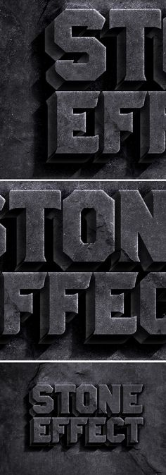 Free Rock Text Effect PSD (63.1 MB) | #free #psd #photoshop