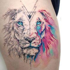 20 Tatuajes inspirados en felinos salvajes; el símbolo de toda la fuerza que llevas dentro