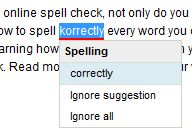 spell checker in action