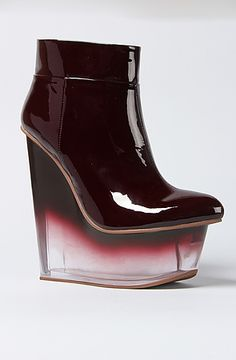 The Icy Shoe in Dark Wine Patent by Jeffrey Campbell