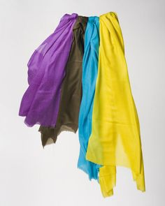 Buy silk, chiffon, cashmere or wool shawls for both women and men exclusively from Le Patio. #scarves #shawls #warm #purple #white #yellow #women #fashion #silk #cashmere