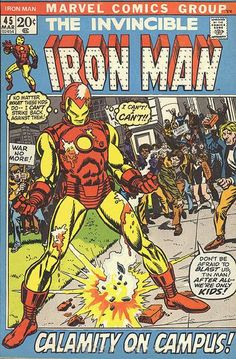 Iron Man 45 March 1972 Issue Marvel Comics Grade by ViewObscura Archie Comics, Dc Comics, Marvel Comics Superheroes, Marvel Comic Books, Comic Books Art, Comic Art, Marvel Heroes, Marvel Girls, Deathstroke