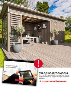Sett sammen din egen hagestue med ferdige elementer Outdoors, Garden, Outdoor Decor, Design, Home Decor, Terrace, Creative, Outdoor, Garten